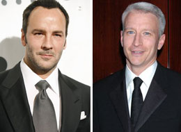 Tom Ford and Anderson Cooper