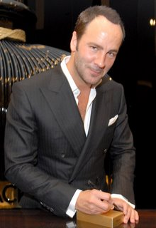 Tom Ford signing his products