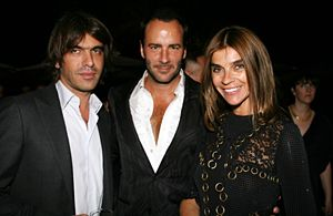 Olivier Lalanne, Tom Ford, and Carine Roitfeld at the Tom Ford for Men fragrance launch