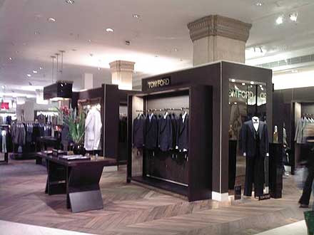 Tom Ford menswear at Harrods