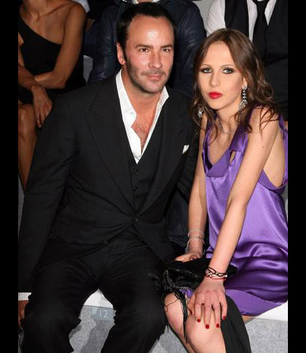 Tom Ford and Alegra Versace