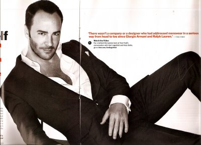 Tom Ford in his suite