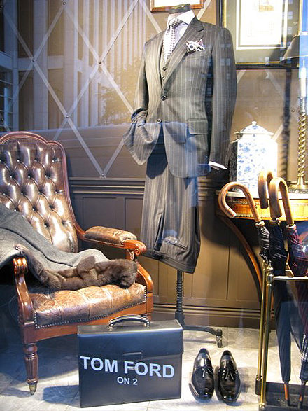 Images from Bergdorf Goodman's men's store on 5th Avenue