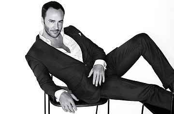 Tom Ford on a couch