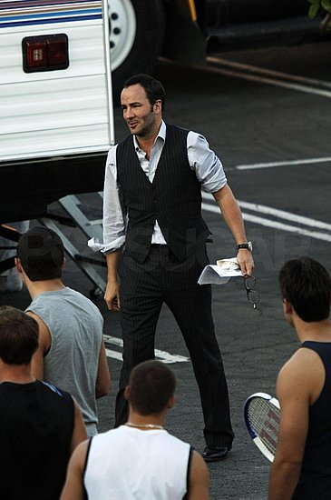 Tom ford on the filmset