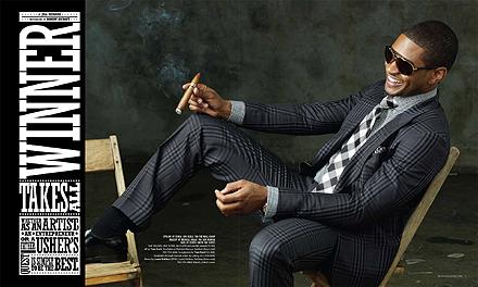 Usher as a Tom Ford model