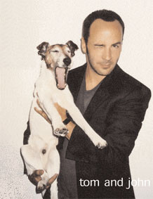 tom ford with his dog