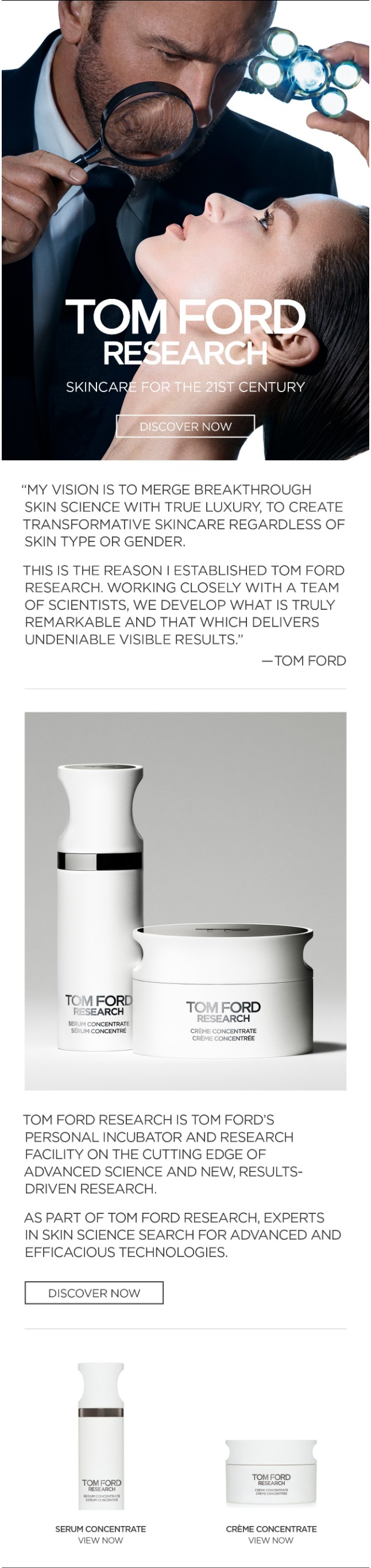 INTRODUCING TOM FORD RESEARCH