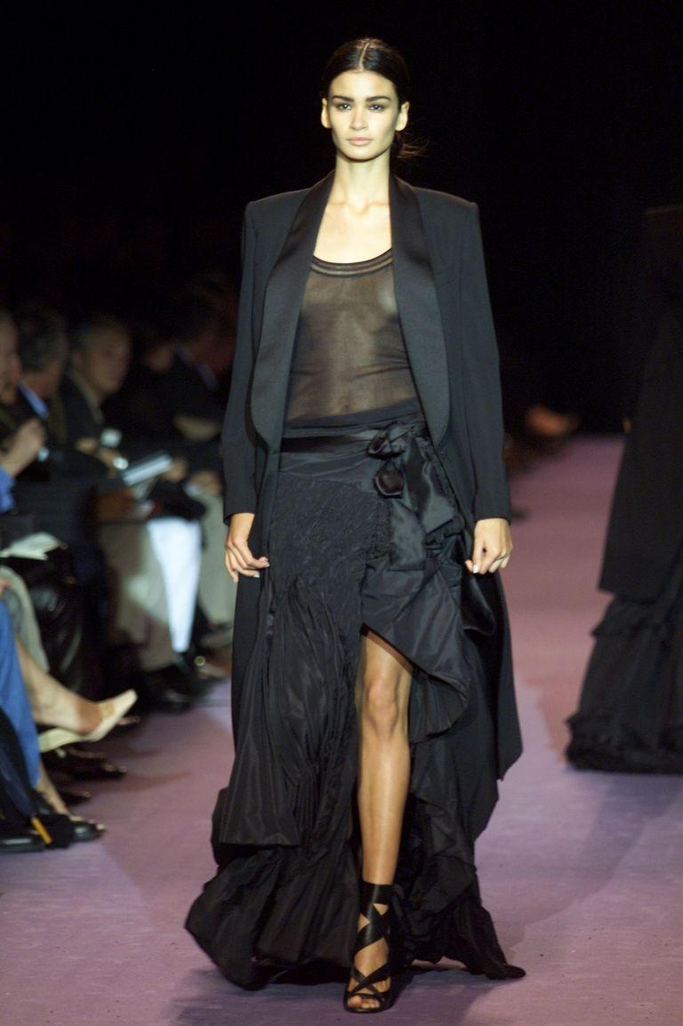 Yves saint laurent fall 2001 ready to wear caroline ribeiro